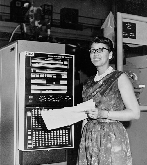 "Melba Roy, NASA Mathmetician, at the Goddard Space Flight Center in Maryland in 1964. Ms. Roy led a group of NASA mathmeticians known as ""computers"" who tracked the Echo satellites. The first time I shared Ms. Roy on VBG, my friend Chanda Prescod-Weinstein, a former postdoc in astrophysics at NASA, helpfully explained what Ms. Roy did in the comment section. I am sharing Chanda's comment again here: ""By the way, since I am a physicist, I might as well explain a little bit about what she did: when we launch satellites into orbit, there are a lot of things to keep track of. We have to ensure that gravitational pull from other bodies, such as other satellites, the moon, etc. don't perturb and destabilize the orbit. These are extremely hard calculations to do even today, even with a machine-computer. So, what she did was extremely intense, difficult work. The goal of the work, in addition to ensuring satellites remained in a stable orbit, was to know where everything was at all times. So they had to be able to calculate with a high level of accuracy. Anyway, that's the story behind orbital element timetables"". Photo: NASA/Corbis"
