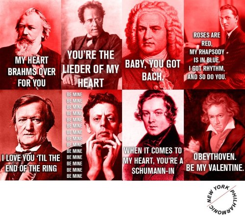 nyphil:  From the New York Philharmonic, Happy Valentine's Day  My heart may be broken, but Mozart isn't. (Groan.) —A.P.