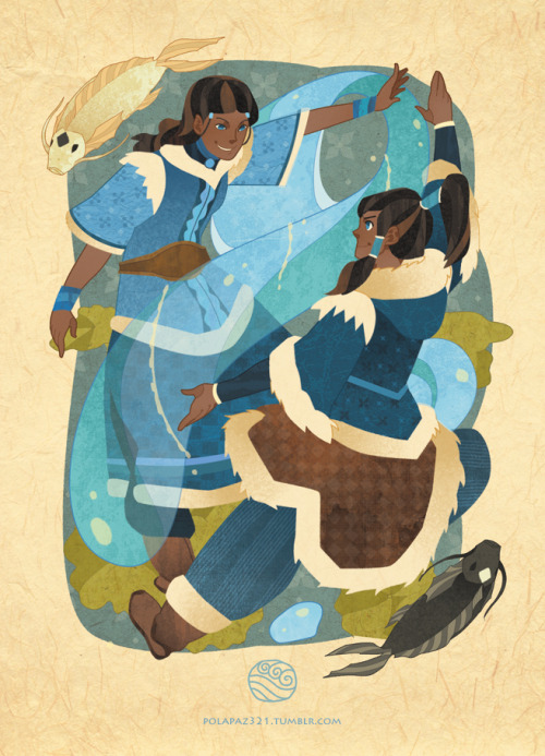 polapaz321:  Waterbending-Katara and Korra