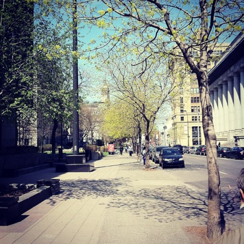 La Rue au Printemps / The Street in Spring (at Rue Notre-Dame)