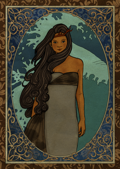 fantasyofcolor:  The Great Selkie by *charcoalfeather