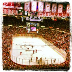The spirit in the arena is amazing ! Lets Go Red Wings 🙆 can't go wrong with free playoff tickets 😉 @ironmike313 figure I would tag you since Sprint won't let you upload photos lol   (at Joe Louis Arena)