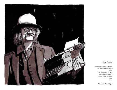 'Richard Brautigan' print now available in my shop.