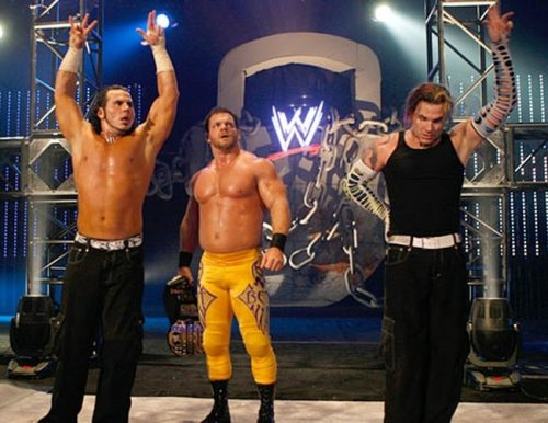 fishbulbsuplex:  The Hardy Boys and Chris Benoit