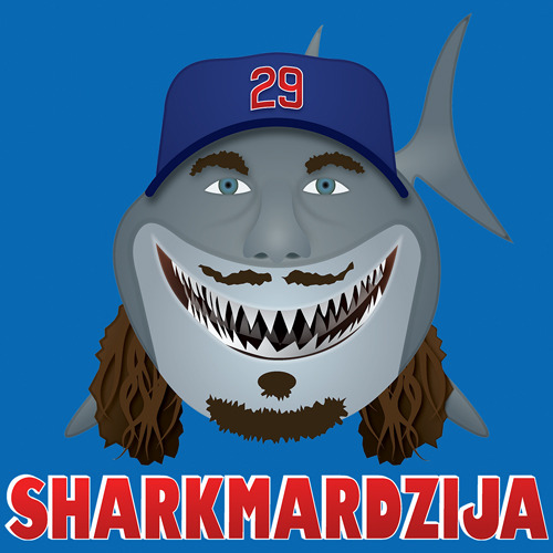 Another solid performance by The Shark so far today. Shirts available @ CubbyTees