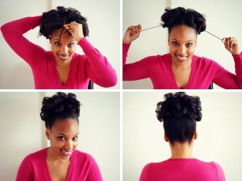 Mane Details: Curly Natural Hair Updo Tutorial + Hask Argan Oil Hair Treatment Review