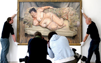 "Lucian Freud Painting Sets Auction Record""Benefits Supervisor Sleeping."" (via Lucian Freud Painting Sets Auction Record - WSJ.com)"