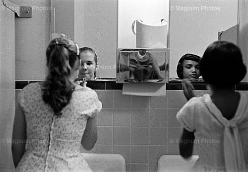 Eve Arnold USA. Virginia. During civil rights strike in America. A party to introduce blacks to whites. 1958. USA. Virginia. During civil rights strike in America. A party to introduce blacks to whites. 1958. (via LON5041)