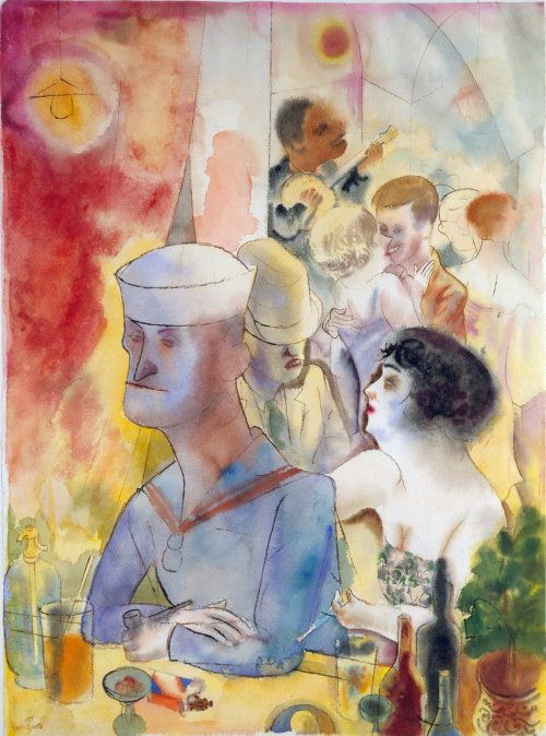 George Grosz - Matrose im Nachtlokal, 1925 via www.mart.tn.it