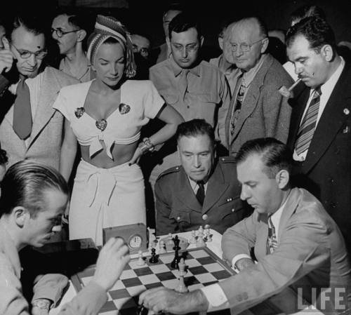LIFE: Singer Carmen Miranda (L), watching the … - Hosted by Google