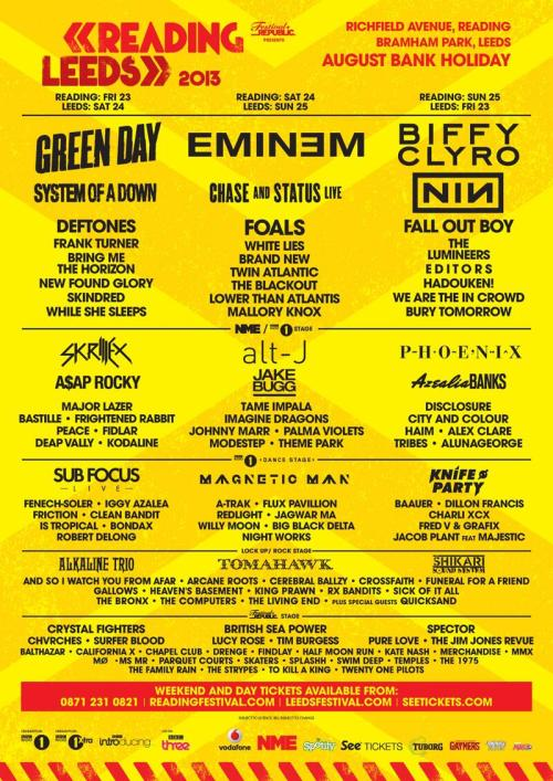 So excited for Reading & Leeds!