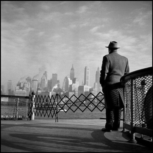 Burt Glinn View of Lower Manhattan from the Staten Island Ferry,  USA, New York City, 1951. From Burt Glinn/Magnum Photos