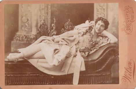 "Fainting Rooms Victorian women being, as they were, prone to frequent fainting fits, it was an inspired idea to designate a specific room in one's home for the very purpose of overcoming them.  One theory posits that the prevalence of fainting rooms within the Victorian home stems from the tightness of corsets, which would restrict blood flow and cause women to faint, however, as women are depicted throughout the 19th century engaging in vigorous activities whilst thus attired, it is more likely that the fainting rooms were a response to the all too frequent diagnosis of 'female hysteria' attributed to any woman displaying signs of a general 'tendency to cause trouble.'  Fainting rooms would provide privacy whilst the ""afflicted"" sought treatment in the form of a highly intimate pelvic massage – a treatment performed by a doctor that could take hours, might be required on a weekly basis, and is possibly the reason the model in the above photograph is smiling… Throughout, the ""patient"" would lie on a specially designed fainting couch, the feature furniture in fainting rooms, which was not dissimilar to a chaise longue, having one end of the back raised and an arm at only one side so as to provide easy access to the reclining position.  [Sources: Image 