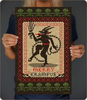 (via Merry Krampus Print | Posters and Prints | 6 Dollar Shirts)