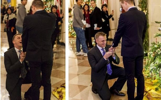 Inside the Gay-Marriage Proposal at the White House    Over the weekend, U.S. Marine Corps captain Matthew Phelps proposed to the love of his life, Ben Schock, at the White House. And that bended knee is now certifiably viral: their pictures have over 8,000 likes on Facebook, more than 17,000 upvotes on Reddit, and 16,000-plus views on imgur (Reddit's go-to image-hosting platform). It's easy to see why: an active Marine Corps captain, his boyfriend, and the first gay marriage proposal in the White House— all a year after  the repeal of Don't Ask Don't Tell, in the year when gay marriage swept the ballot box and the polls. We emailed with Phelps just now about his newfound Internet fame, the wedding plans, his problem with DOMA, and why he doesn't feel like that much of an overnight symbol after all. Read more. [Images: Facebook]