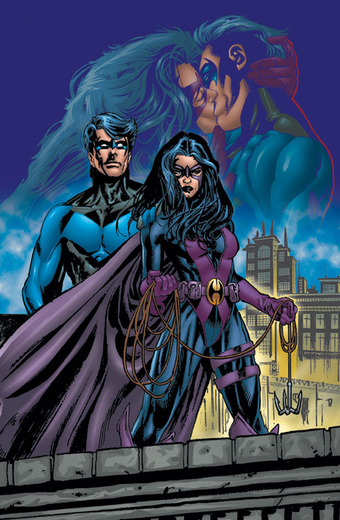 sirdeepcookie:  Nightwing and Huntress