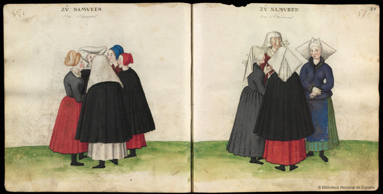Códice de trajes, Germany, 1547, BNE MS Res 285, ff. 2v-3r. via Biblioteca digital hispanica