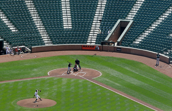 """Orioles Play in Eerily Empty Stadium, Sirens in Distance