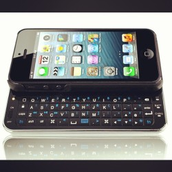 "The iPhone 5 ""qwerty"" Bluetooth keyboard is #nerdwithswag http://nerdwithswag.com/products/the-iphone-5-sliding-qwerty-bluetooth-keyboard"