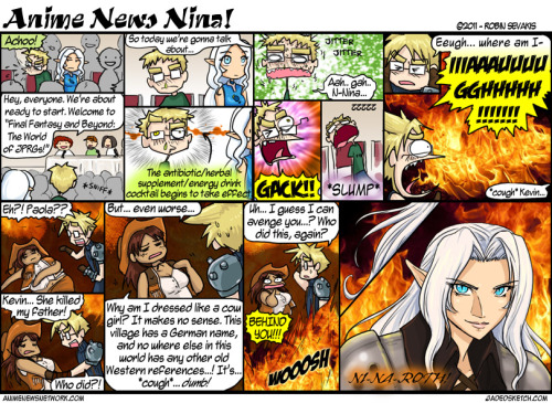 Anime News Nina - #148 The fun begins, and I show my colors as a true FF7 nerd. Ninaroth is too much fun to draw.