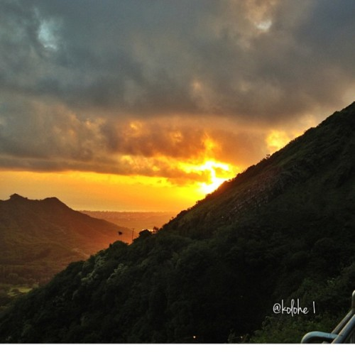 Sunrise from Nu'uanu Pali Lookout….#aloha_kakahiaka#mahalo_ke_akua #kuu_home #kukuna_o_kala #e_ala_e #ka_la_i_kahikina #eastsidesunrise #windwardskies #my_hawaii #hiig #hiig808 #insta808 #instahawaii #photowall #360degreesofbeauty #247hawaiian — photo taken by kolohe1