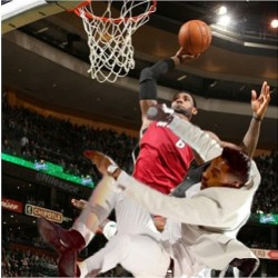 iamhaganlee:  #Miguel, you should know not to #jump! #lebron #dunking on this dude! This shit doesn't get old!