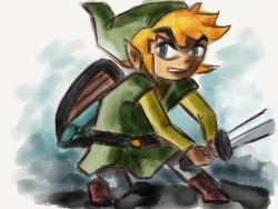 Link, a fast sketch using Paper for iPad… Made With Paper