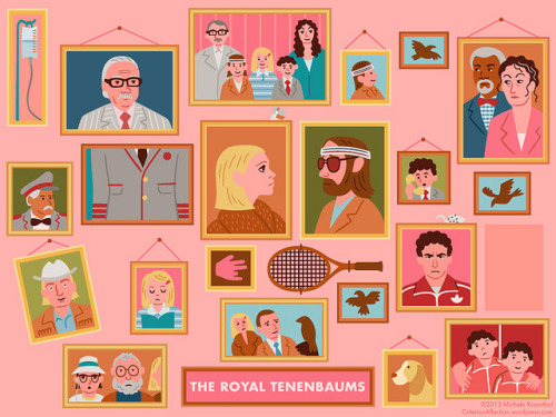 somethingsforyoutolookat: The Royal Tenenbaums by dial m for michele on Flickr.