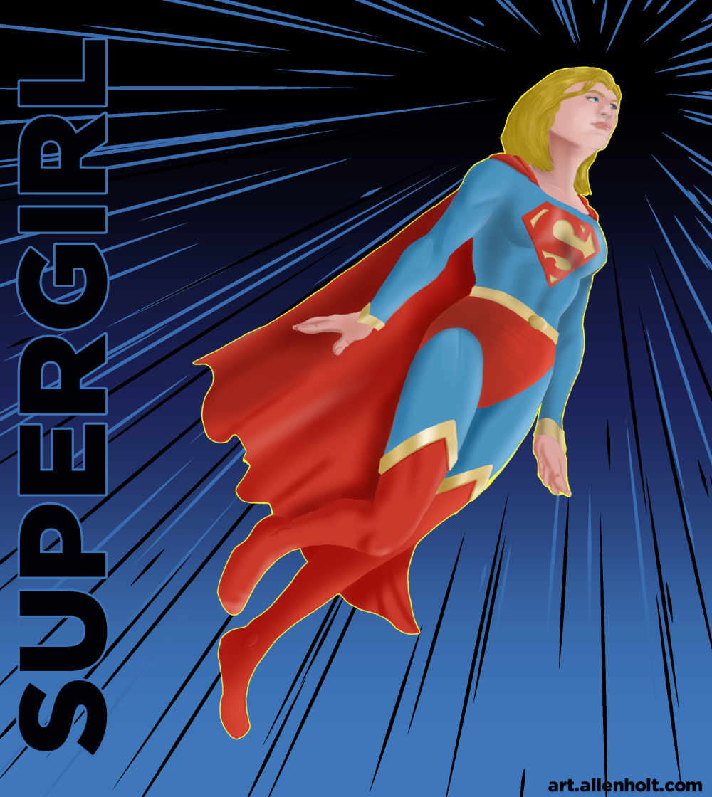 Supergirl.  Just 'cause. Done in Manga Studio 5.