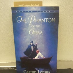 Gaston Leroux is getting me through the night at the airport :-) #books