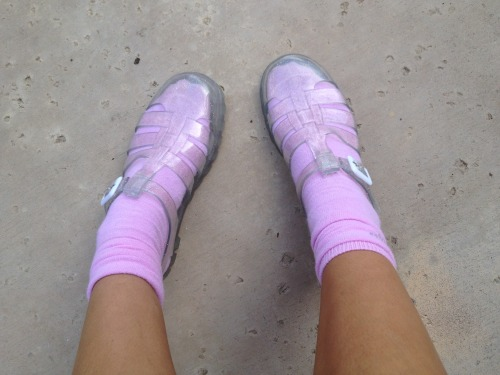 lavendercola:  Some kid at school said that my crocs are ugly but I work it… um excuse me
