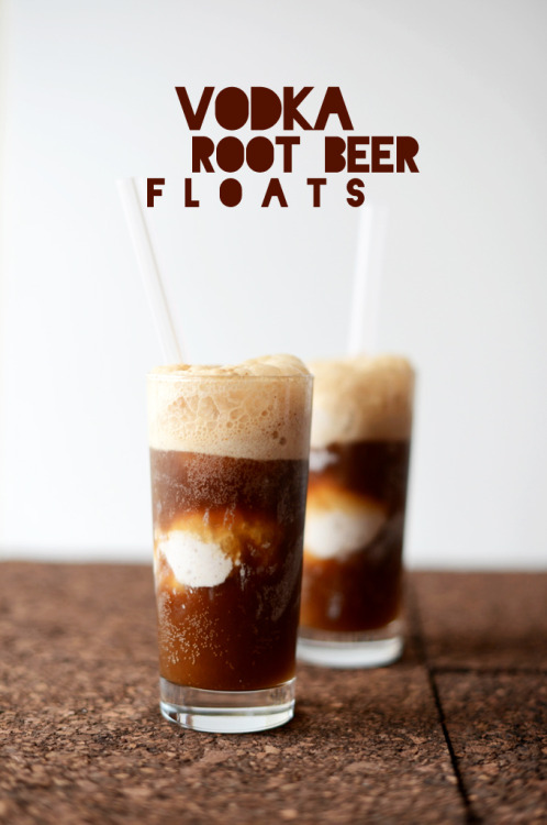"Um, hello, I love you. Vodka Root beer Floats from the Minimalist Baker. Since my grandpa moved to Philly, he has dinner at my parents' every sunday. At this dinner, two things always happen: One, Figgy ushers my gramps to a chair and plops on his lap to act as lap warmer/Kindle stand, never to move until he's forced. The other thing that always happens is that my gramps and pop have root beer floats after dinner. Except they call them ""brown cows"" for some reason. I never have one but I find it very endearing.  Maybe I will add vodka to the floats next time! I bet if I asked, my gramps would say he's never had vodka—but he says the same thing about wine every time we pour him a glass."