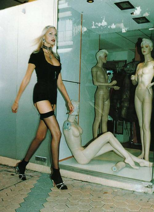 Nadja Auermann by Helmut Newton (1994)
