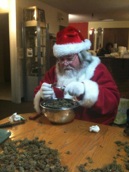 Santa knows who's been naughty or nice…