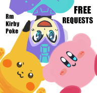 freepokekirbyrmrequests:  Hi! I'm running free requests blog the first time on tumblr :)))I like Kirby,Pokemon and Rockman [Nights and Sonic a little]=======================You can request me whatever you want It would be nice if it's Kirby,Pokemon,RockmanOriginal character is fine to me but **send me some picture or link picture [in submission or ask button]I'm not so good at human. sometimes I color sometimes I just sketch or comic it's up to me you never know what do you got.. heehee Yaoi Yuri is ok but no R-18 request If I got massage request I have to delete it kay see ya guys, Hope I can draw something for you all!  Cool,I must reblogging it