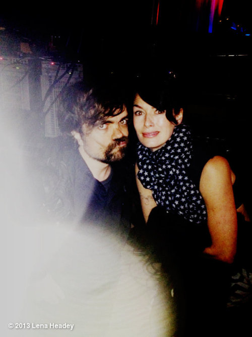 suicideblonde:  Lena Headey and Peter Dinklage