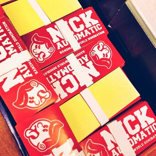 New stickers! Get em free for every purchase of @nckatmtc merchandise!! #dominate (at Nick Automatic Doodle Store)