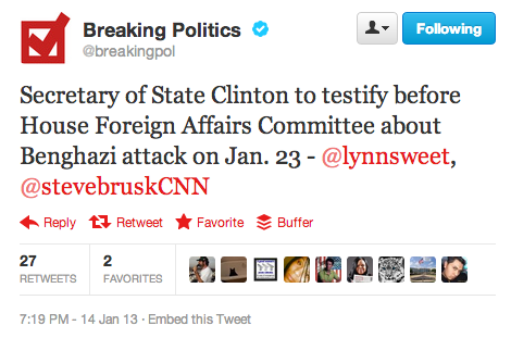 "Hillary Clinton to testify on Benghazi Jan. 23rd: New talking point for skeptics — ""it's not her, it's really a hologram, Tupac-style!"""