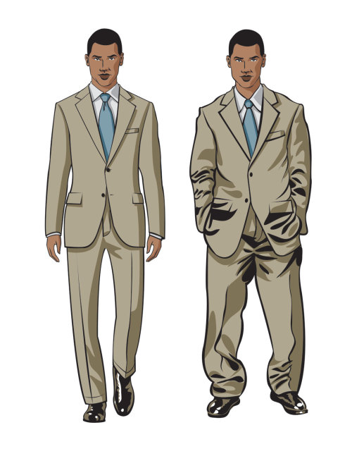 Master fit and proportion This is the most important component of creating the look that is YOU. You could be decked out in the finest italian suit, but if you're wearing the wrong size, you're going to look terrible.   Figuring out how clothes should fit can be quite a process, we can help you Refine your look