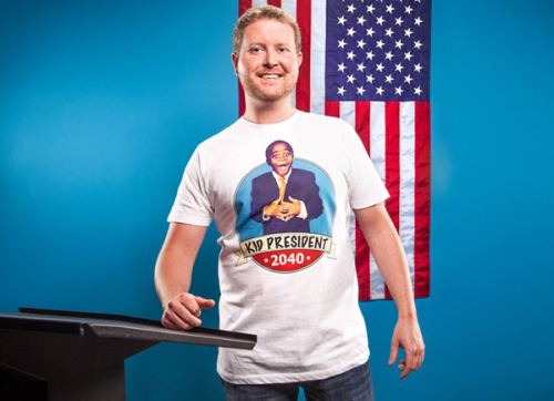 "The results are in! The winner of the Threadless + Kid President t-shirt contest is Joe Bradley of Columbia, Missouri. Read the blog post here to learn about how he is inspired by Kid President and how he's going to use that $1,000 to make someone's year more awesome!  ""We both set our computer backgrounds to Kid President quotes. Mine says ""It's everybody's duty to give the world a reason to dance."" It helps me get going in the morning. The kid is doing such amazing things at a young age, inspiring people 10 times his age to get up and do something. Hopefully the t-shirts can help spread Kid President's message to just a few more people."""