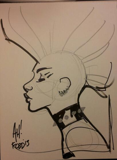 I scooped a few Punk Storm pieces at this year's Free Comic Book Day event at Heroes Aren't Hard to Find… This one is by longtime fan favorite Adam Hughes!