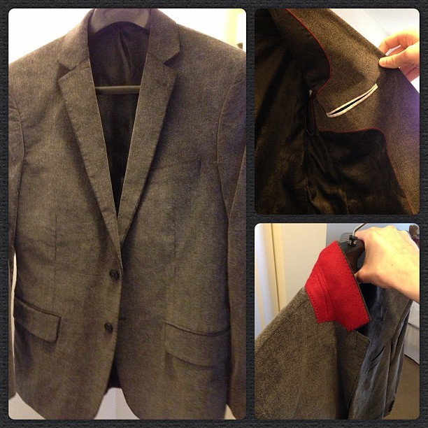 Sexy new blazer I just got #photos #mensfashion #blazer #red #fashion #saturday #shopping #igers #igdaily #igaddict #iphone5