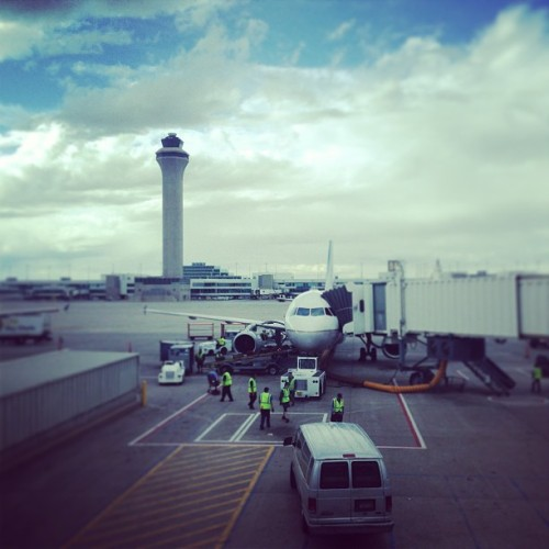 Power In Numbers | #travel #denver #airport #airplane #controltower #united #cloudporn #iphoneography  (at Denver International Airport (DEN))