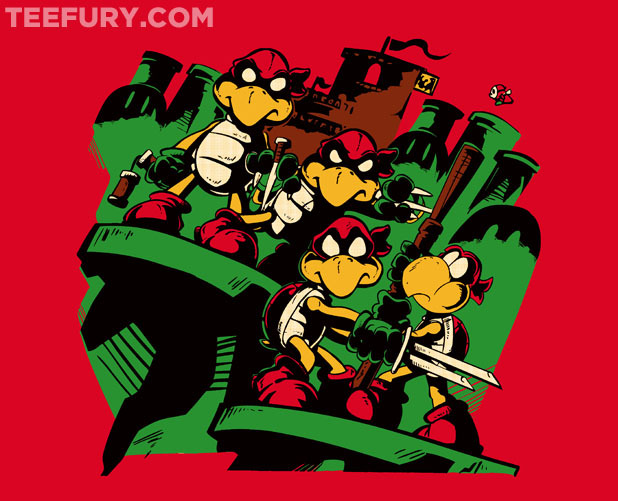 gamefreaksnz:  Teenage Koopa Ninja Bros by Craig Tucker - For sale on February 20th at Teefury US $10 for 24 hours only