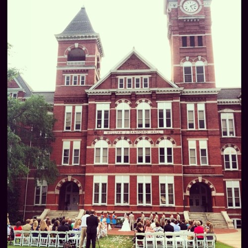 Storms Cleared Just in Time for a Samford Lawn Wedding!  (at Samford Hall)