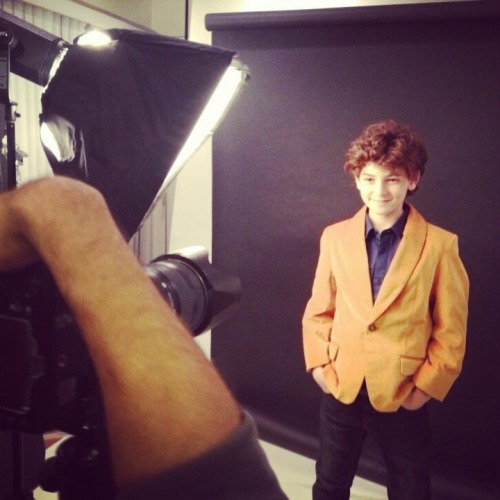 "Behind the scenes of my shoot with David Mazouz who stars on the FOX show ""Touch""."