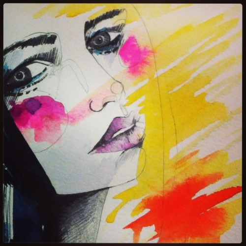Preview of some more new work…. watch this space ;)  http://instagram.com/hollysharpe_drawings/ Holly Sharpe ♥