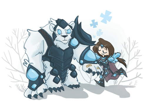 Taric and Volibear by ~inkinesss