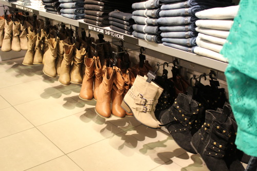 supabrielle:  Boots at Wet Seal.