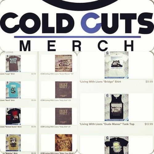 @coldcutsmerch has added a bunch of stuff to their LWL  page. Go get some fresh summer threads!! www.coldcutsmerch.com/collections/living-with-lions